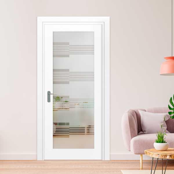 1 Lite Interior Door with Glass Insert (Model 1LID-0009 Semi-Private)