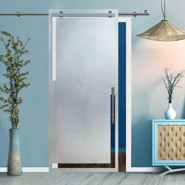 Glass Barn Door (Model SGD-V2000-0036 Semi-Private)
