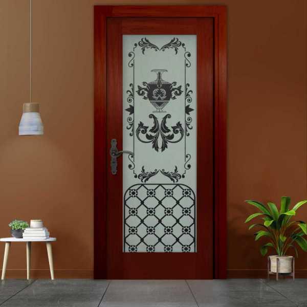 Hinged Solid Wood Door (Model: HWDI-0001 Semi-Private)