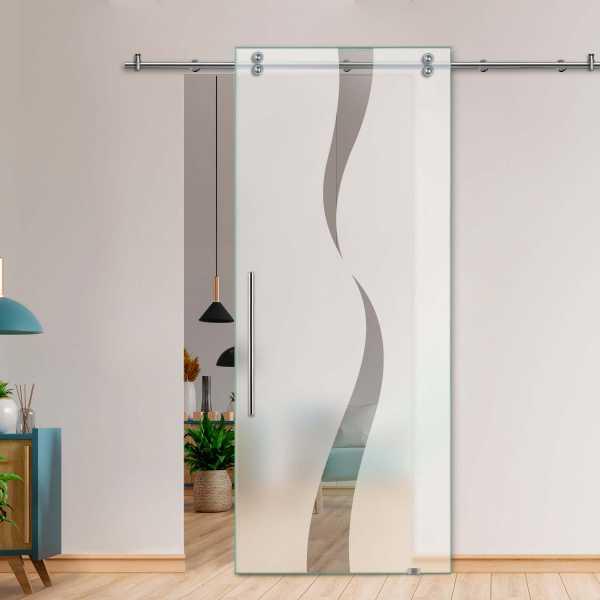 Single Sliding Barn Glass Door SGD-V2000-0054