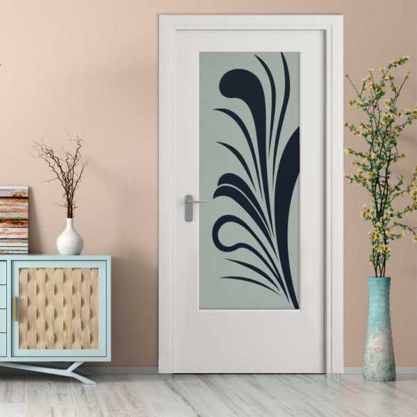 Pantry Room MDF Hinged Doors with Glass Insert CHMDI-0005