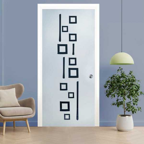 Pocket Glass Barn Door (Model PSGD-0096 Semi-Private)