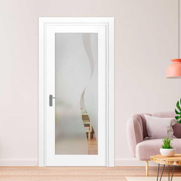1 Lite Interior Door with Glass Insert 1LID-0025