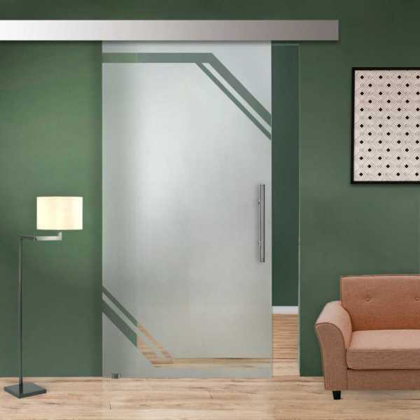 Single Sliding Glass Barn Door SGD-ALU100-0018
