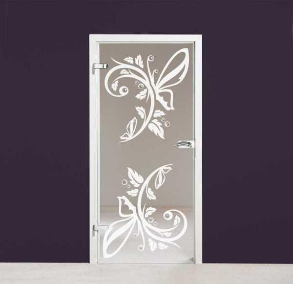 Hinged Glass Door (Model HGD-H+H-0028 Semi-Private)