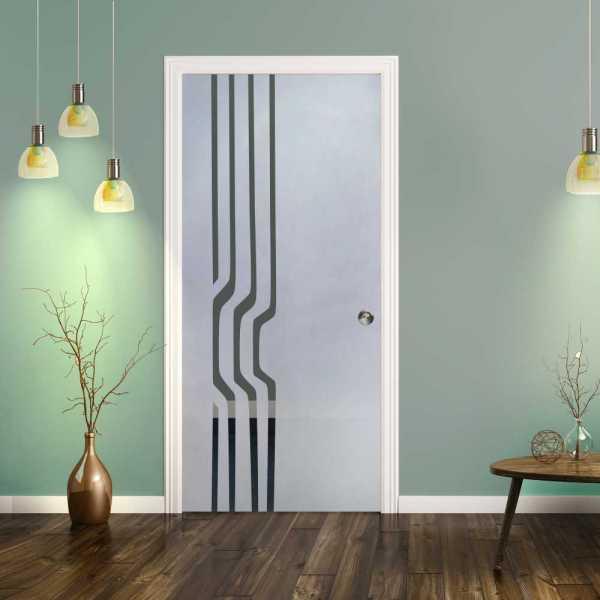 Pocket Glass Barn Door (Model PSGD-0081 Semi-Private)