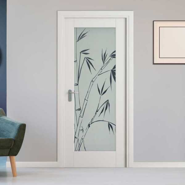 MDF Hinged Doors with Glass Insert HMDI-0020