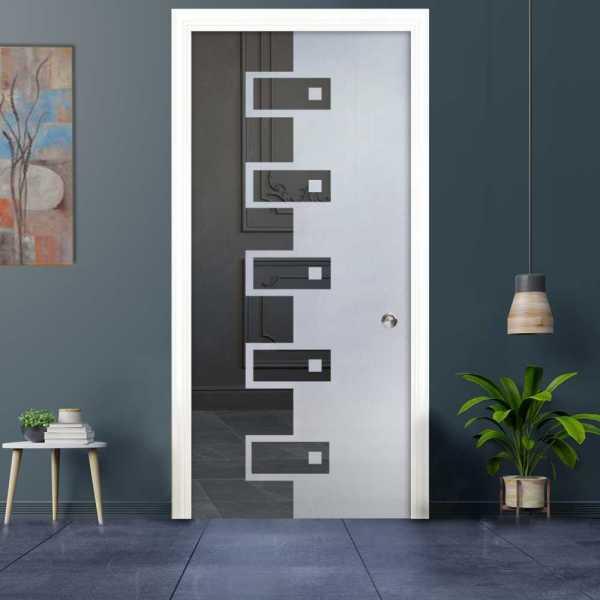 Pocket Glass Barn Door (Model PSGD-0040 Semi-Private)