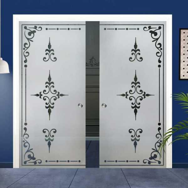 Double Pocket Glass Barn Door (Model DPSGD-0021 Semi-Private)_Recessed Grip Handle