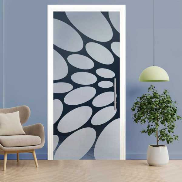 Sliding Pocket Glass Door with Frosted Design and Track System PSGD-0049