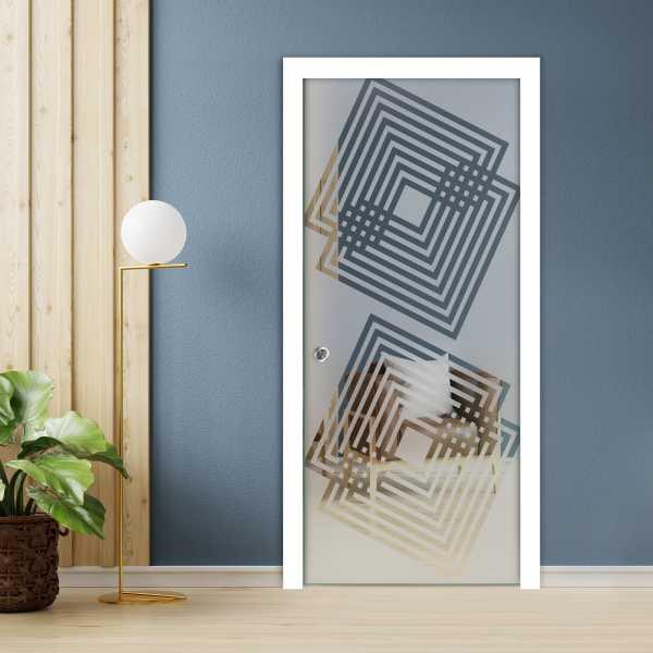 Pocket Glass Barn Door (Model PSGD-0009 Semi-Private)