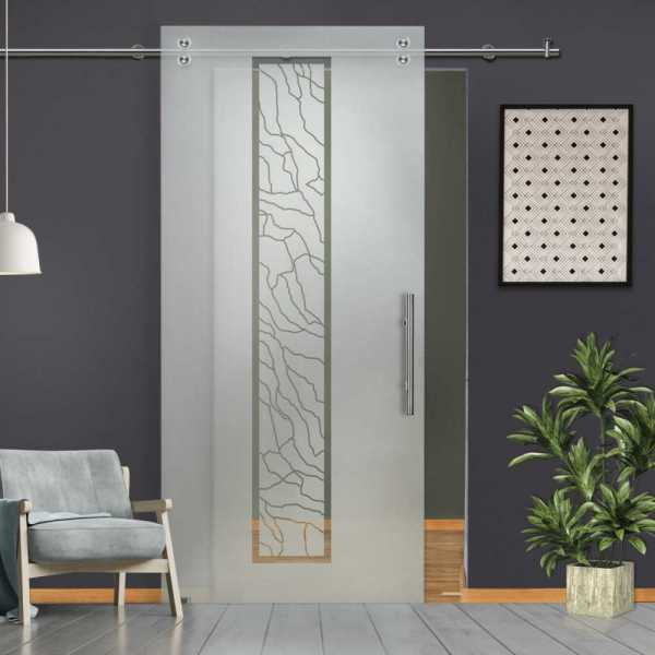 Glass Barn Door (Model SGD-V2000-0071 Semi-Private)