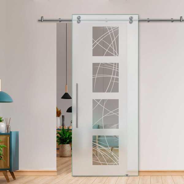 Glass Barn Door (Model SGD-V2000-0222 Semi-Private)