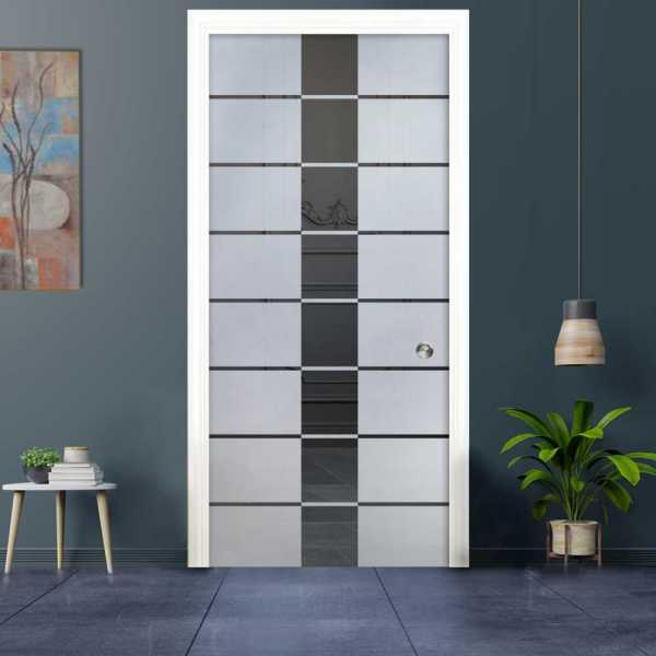 Pocket Glass Barn Door (Model PSGD-0037 Semi-Private)