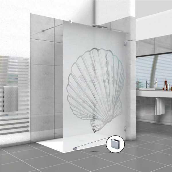Frameless Fixed Shower Glass Panel FSS-0004