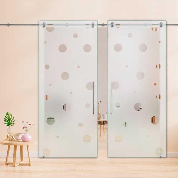 Glass Barn Door (Model DSGD-V2000-0048 Semi-Private)