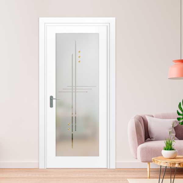 1 Lite Interior Door with Glass Insert (Model 1LID-0016 Semi-Private)