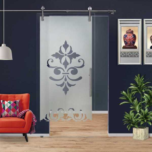 Sliding Glass Barn Door SGD-V1000-0075 Semi-Private