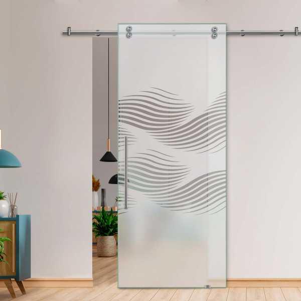 Glass Barn Door (Model SGD-V2000-0031 Semi-Private)