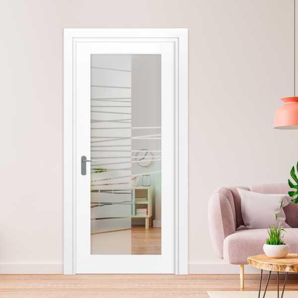 1 Lite Interior Door with Glass Insert (Model 1LID-0029 Semi-Private)