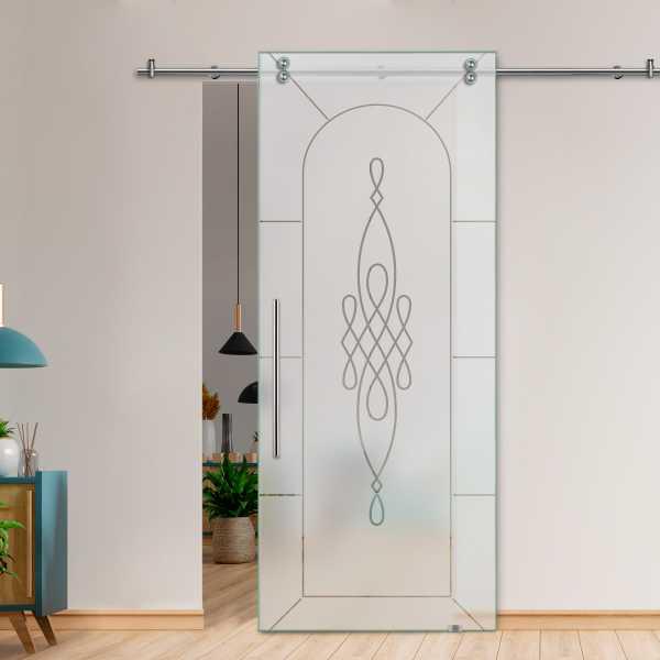 Glass Barn Door (Model SGD-V2000-0044 Semi-Private)