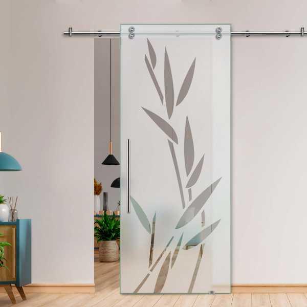 Glass Barn Door (Model SGD-V2000-0060 Semi-Private)
