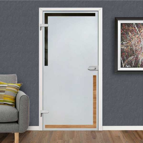 Hinged Glass Door HGD-H+H-0097 (Semi-private)