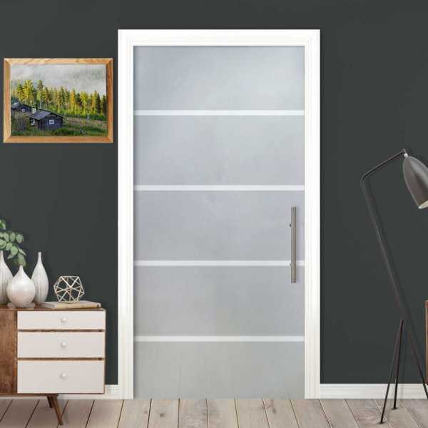 "2x Sliding Pocket Glass Door, 35"" x 95"", Glass Thickness: 3/8"", Full Private and Custom Made"