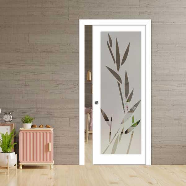 Glass Barn Door (Model PWGD-0013 Semi-Private)_Recessed Grip Handle