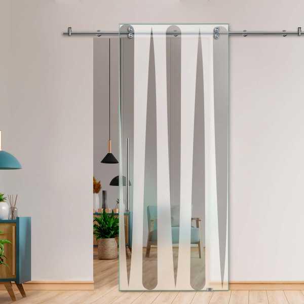 Single Sliding Barn Glass Door SGD-V2000-0076