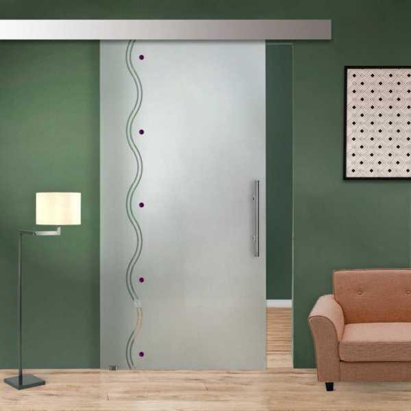 Glass Barn Door (Model SGD-ALU100-0033 Semi-Private)