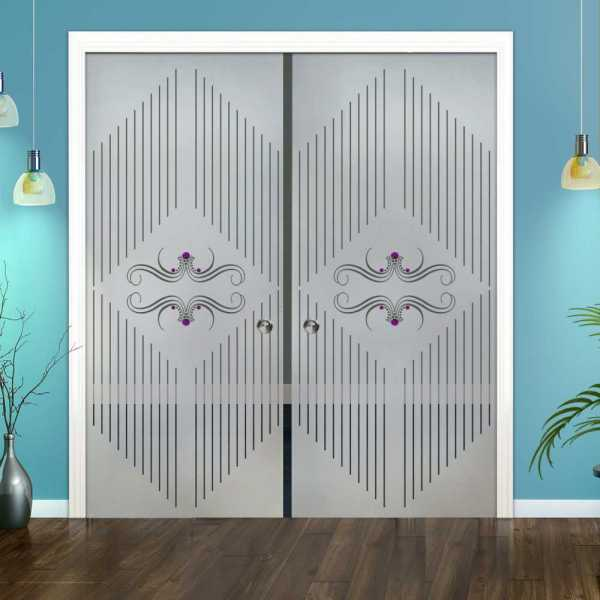 Double Pocket Glass Barn Door (Model DPSGD-0091 Semi-Private)_Recessed Grip Handle