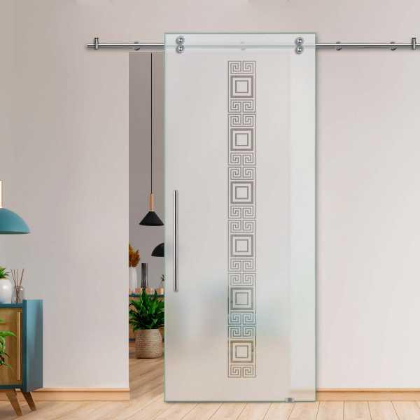 Glass Barn Door (Model SGD-V2000-0026 Semi-Private)