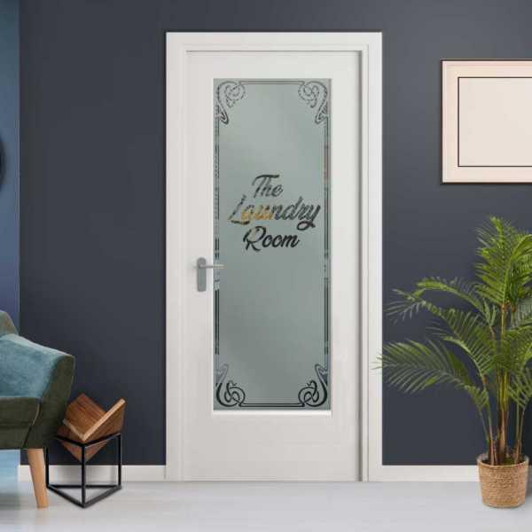 3/4 Lite Interior Door with Glass Insert (Model HMDI-0002 Non-Private)