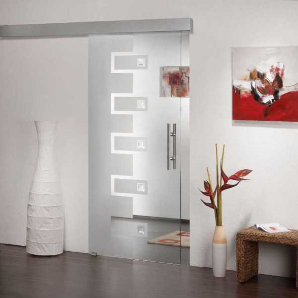 Sliding Glass Barn Door SGD-ALU100-0087 semi-private
