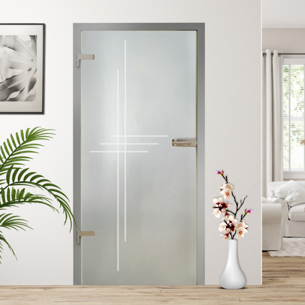 ++Sales Offers++ 27 1/2'' x 79.5'' Hinged Glass Door HGD-H+H-0020 Full-Private