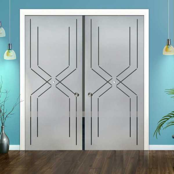 Double Pocket Glass Barn Door (Model DPSGD-0114 Semi-Private)_Recessed Grip Handle