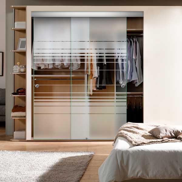 Frameless 2 Leaf Sliding Closet Bypass Glass Door with Hardware CGD-0011