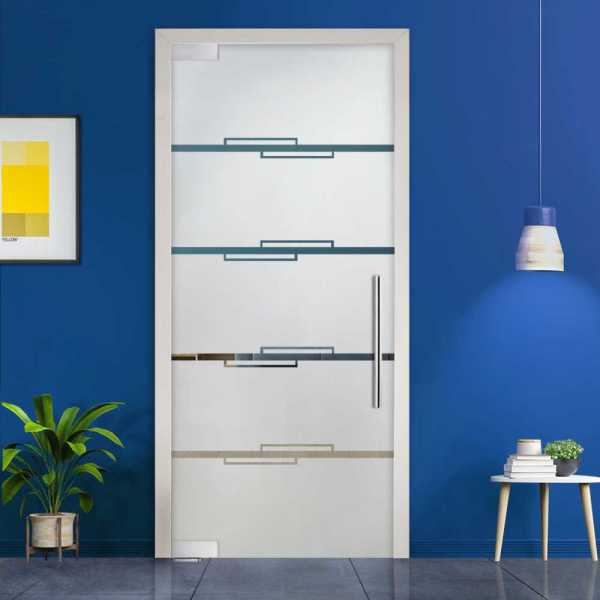 Pivot Glass Door (Model PD-0038 Semi-Private) with Handle Bar