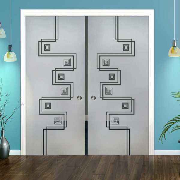 Double Pocket Glass Barn Door (Model DPSGD-0104 Semi-Private)_Recessed Grip Handle