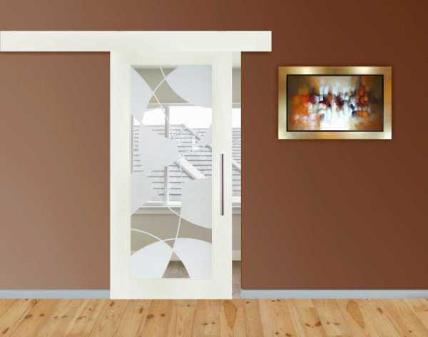 1 Lite MDF Sliding Barn Door with Glass Insert WGDA-0003