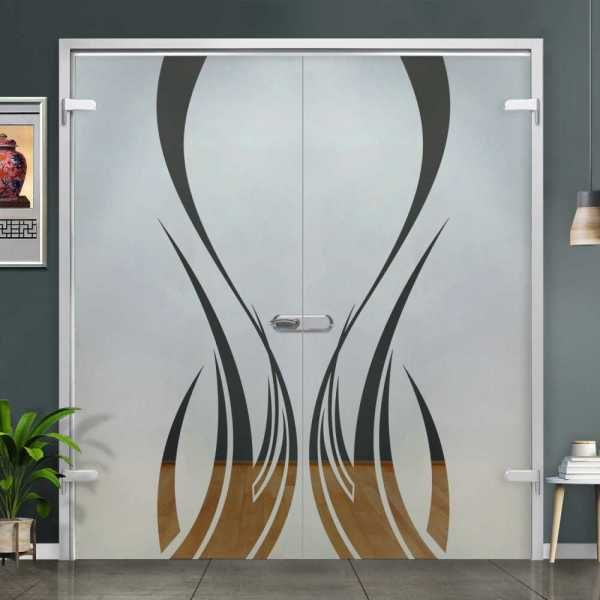 Double Hinged Glass Door H-H+DHGD-0003