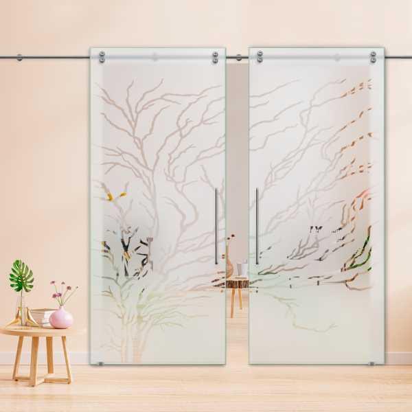 Glass Barn Door (Model DSGD-V2000-0050 Semi-Private)