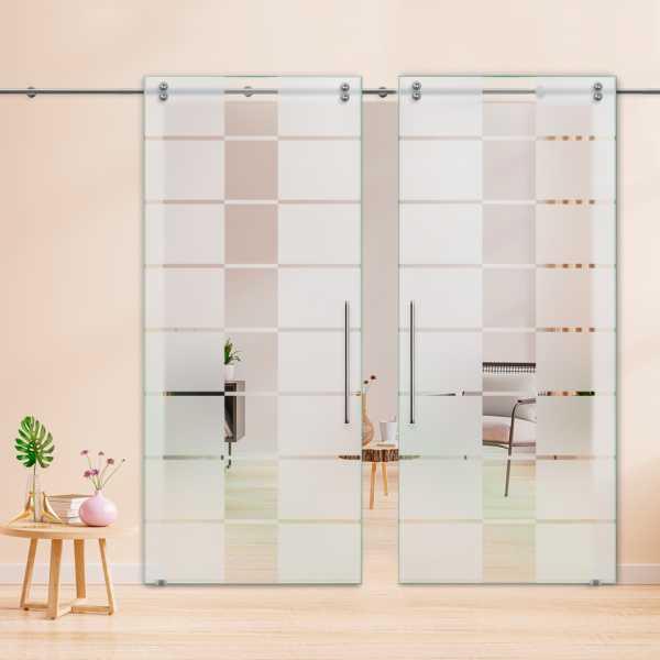 Glass Barn Door (Model DSGD-V2000-0014 Semi-Private)