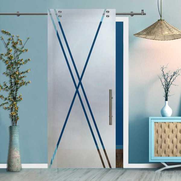 Glass Barn Door (Model SGD-V2000-0406 Semi-Private)