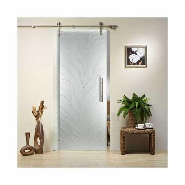 Sliding Glass Barn Door SGD-V1000-0058 semi-private