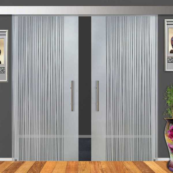 Double Sliding Barn Glass Door (15% OFF)