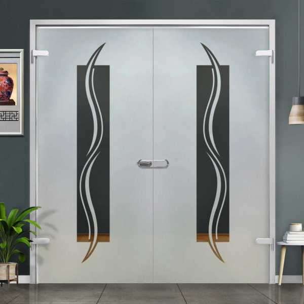 Double Hinged Glass Door (Model H-H+DHGD-0020 Semi-Private)
