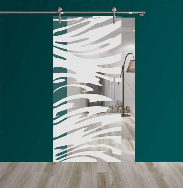 Sliding Glass Barn Door SGD-V1000-0161 semi-private