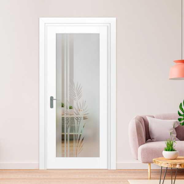 1 Lite Interior Door with Glass Insert (Model 1LID-0007 Semi-Private)
